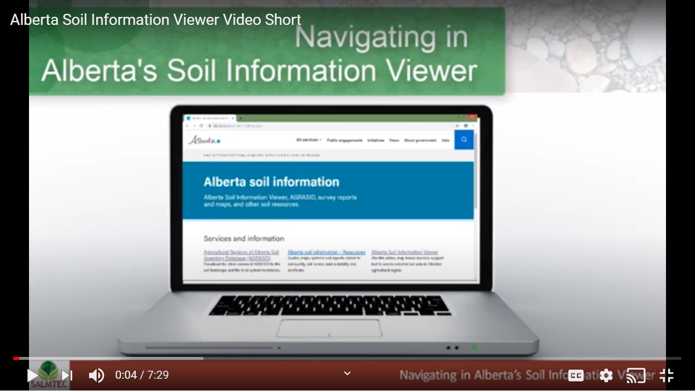 Alberta's Soil Information Viewer